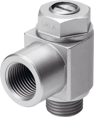 FESTO one-way flow control valve - Model: GRLA-1/4-B - Part No: 151172