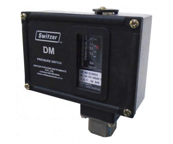 SWITZER Diaphragm type pressure switch. Model : DM-601-B26-S1-3-A
