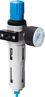 FESTO Air Filter Regulator with Manual Drain - Model: LFR-1/4-D-MINI - Part No: 159631