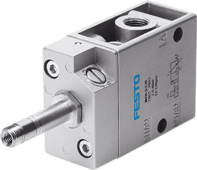 FESTO 3/2 NC Single Solenoid Valve - Model: MFH-3-1/2 - Part No: 9857