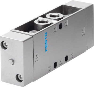 FESTO 5/2 Double Pilot Valve - Model: JH-5-1/4 - Part No: 10408