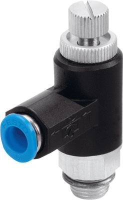 FESTO one-way flow control valve - Model: GRLA-1/8-QS-8-RS-B - Part No: 162966