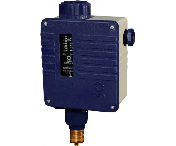 Bellow type pressure switch. Model : SWITZER - PSM-550-B2-11-CD ; INDFOS Model : (RT110-PB)