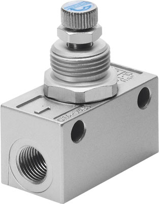 FESTO one-way flow control valve - Model: GRA-1/4-B - Part No: 6509