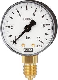 WIKA Pressure Gauge - Model: 111.10.100 | Dial Size: 100mm , Range: 0 - 1 KG/CM , Body Material: MS